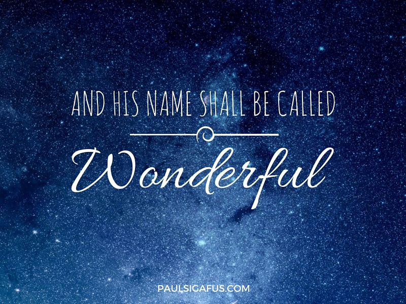 Image result for name called wonderful